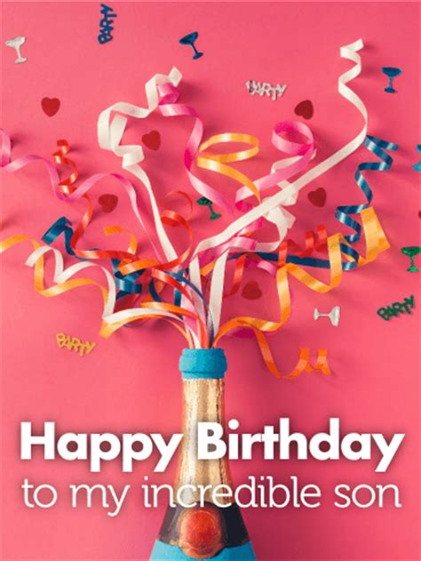 To my Incredible Son - Happy Birthday Card   Birthday