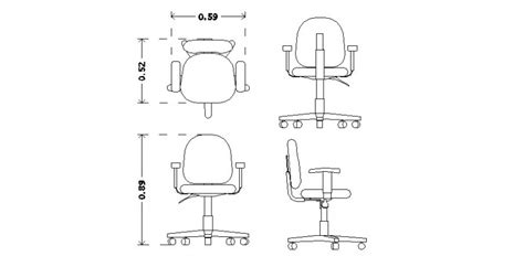 Detail office table and chair layout CAD furniture block