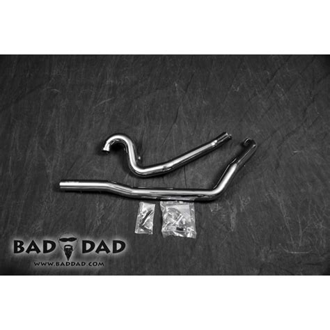 Bad Dad Chrome True Dual Exhaust Header Pipes Harley