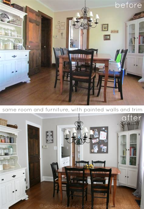 #painted white trim #before and #after - same exact
