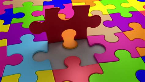 Final Puzzle Piece Falls Into Stock Footage Video (100%