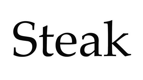 How to Pronounce Steak - YouTube