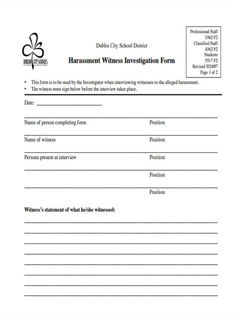 FREE 17+ Witness Statement Forms in PDF   Ms Word