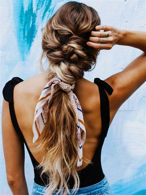 Scarf Ponytail Is The Perfect Hairstyle For Summer