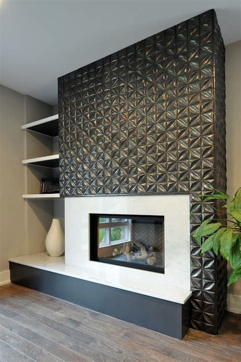 Mid-Century Modern Fireplace - Mission Tile West