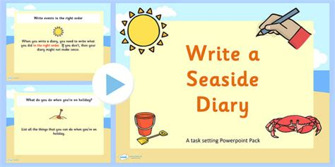 Writing a Seaside Diary PowerPoint Task Setter - how to