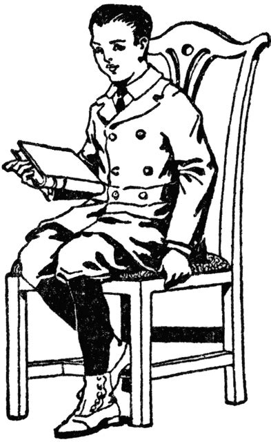 Boy Sitting in Chair with Book | ClipArt ETC