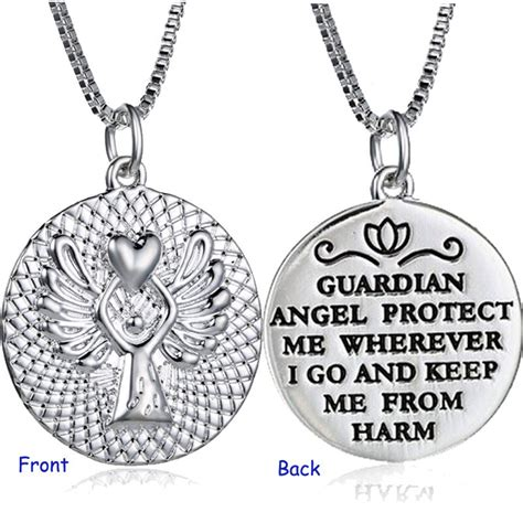 """2016 Hot New""""Guardian Angel""""Pendant Necklace Wing Silver"""